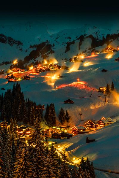Le ski en groupe